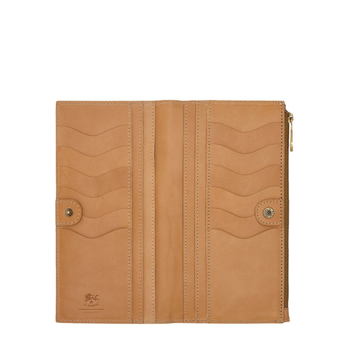 Women's Continental Wallet Giulia in Cowhide Leather SCW068 color Natural | Details