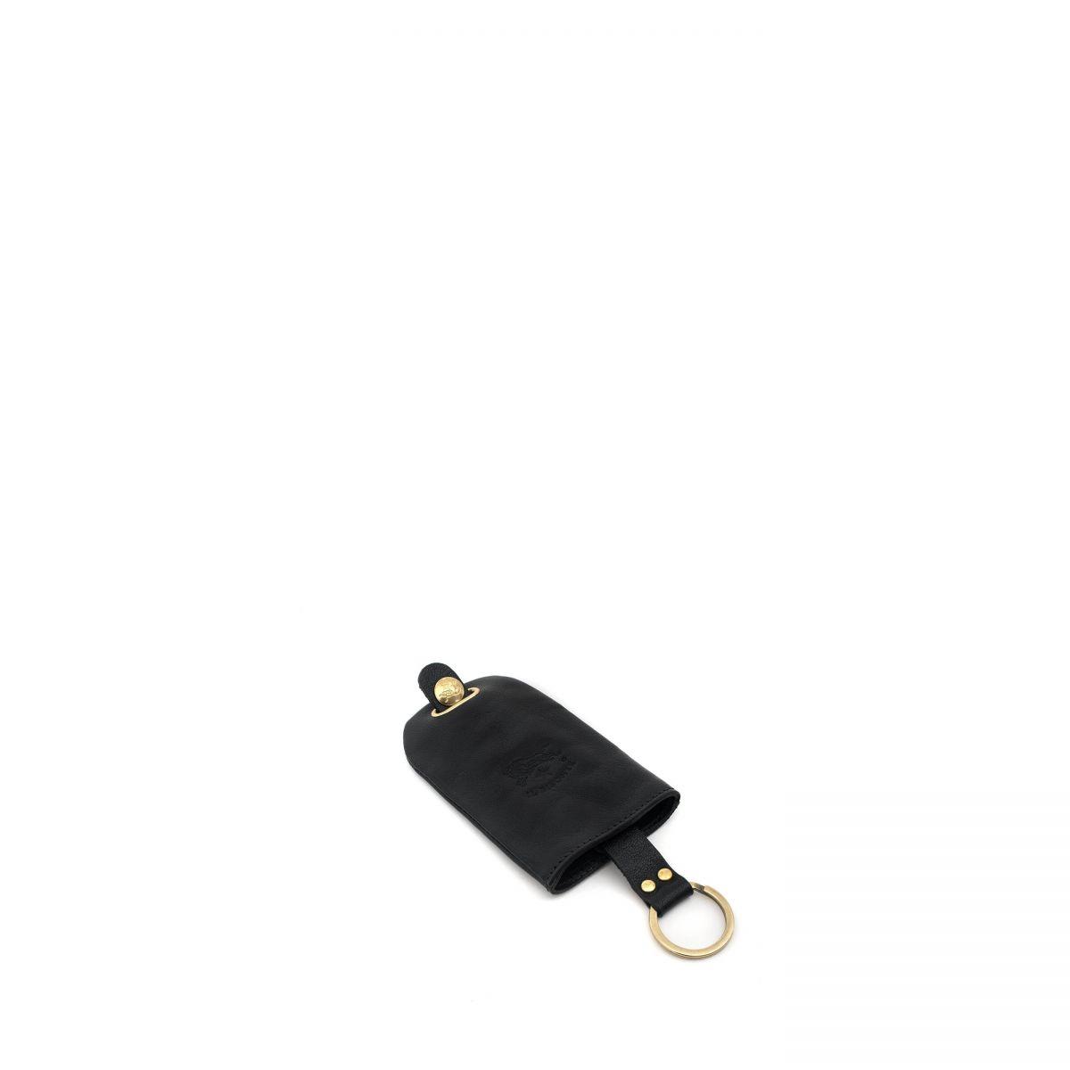 Porta Chiavi  in Doppia Pelle Di Vacchetta SKH007 colore Nero | Details
