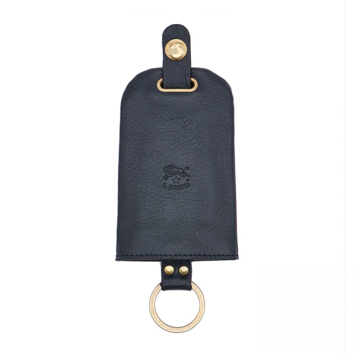 Porta Chiavi in Doppia Pelle Di Vacchetta colore Blu - SKH007 | Details