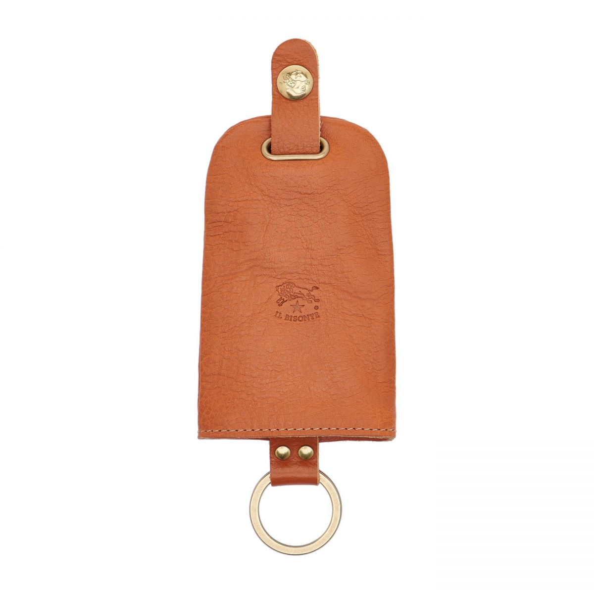 Keyring in Cowhide Double Leather color Caramel - SKH007 | Details