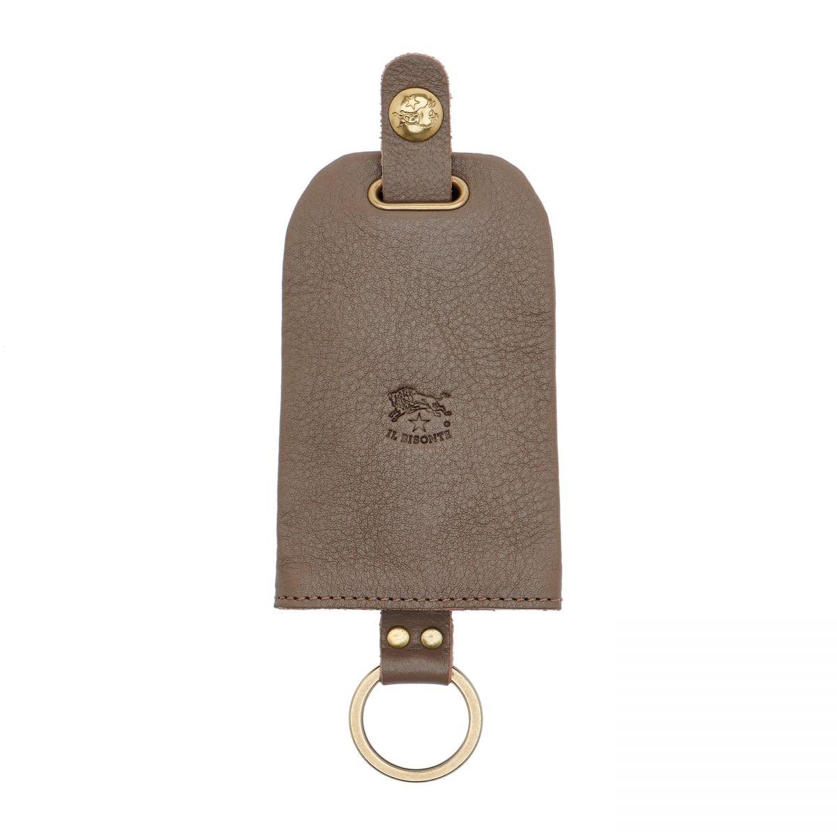 Porta Chiavi in Doppia Pelle Di Vacchetta colore Tortora - SKH007 | Details