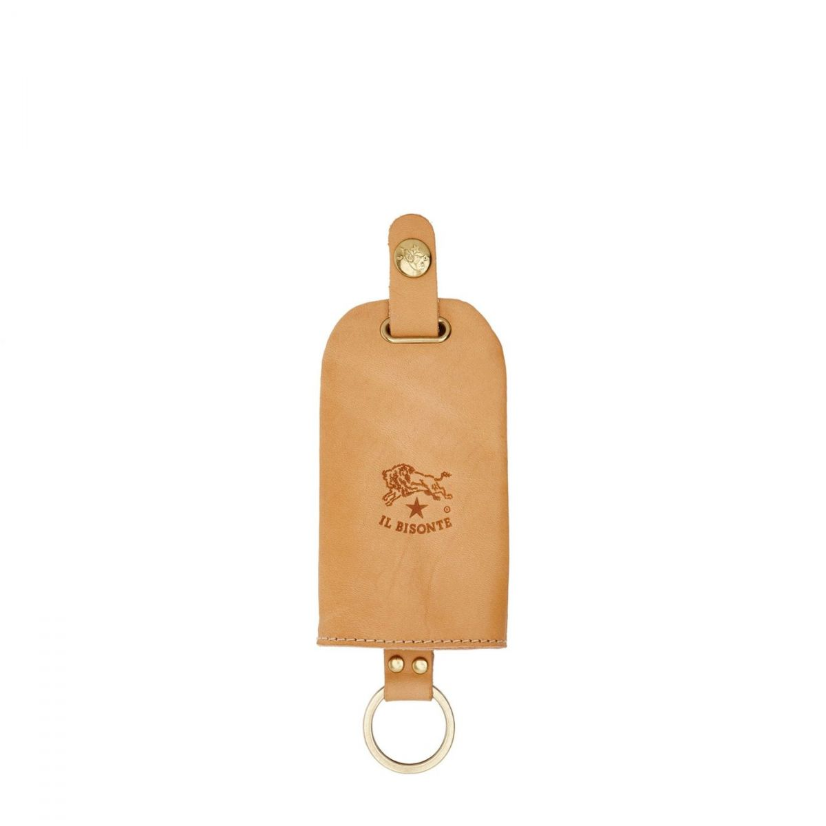Keyring  in Cowhide Double Leather SKH007 color Natural | Details