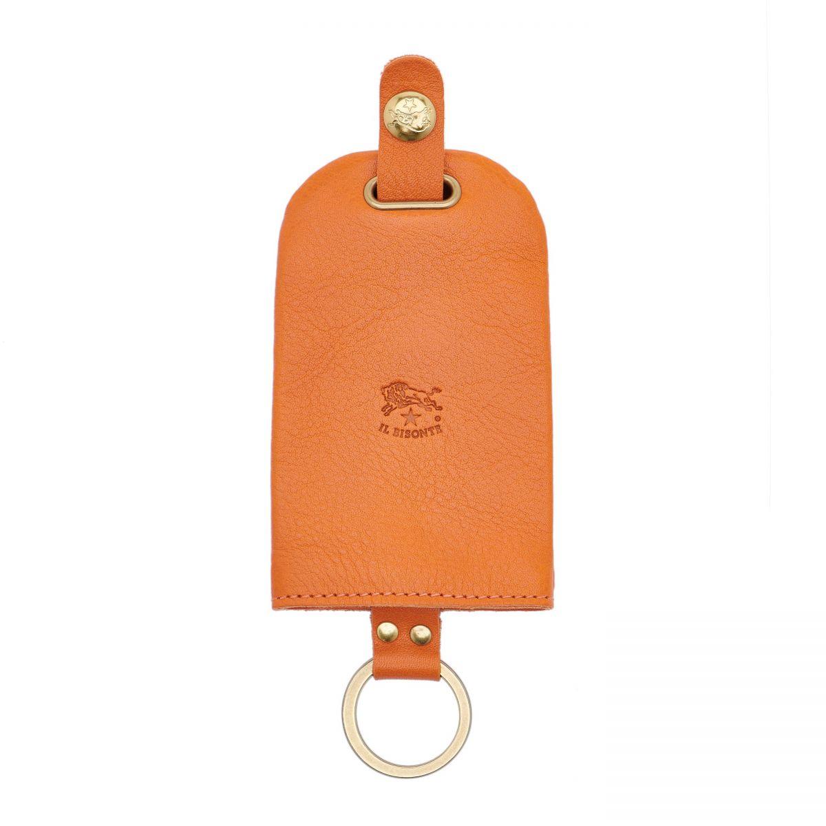 Porta Chiavi in Doppia Pelle Di Vacchetta colore Arancione - SKH007 | Details