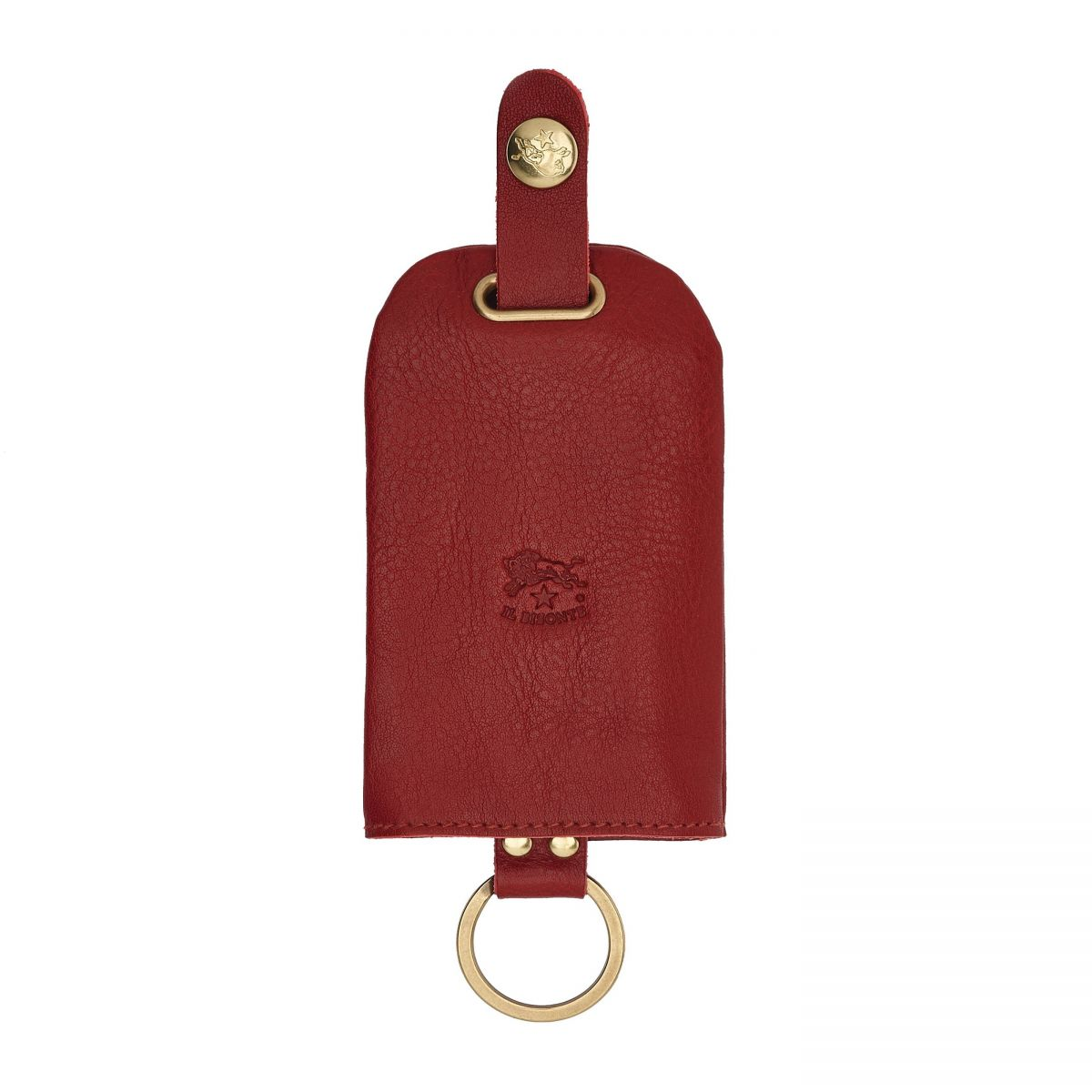Keyring  in Cowhide Double Leather SKH007 color Red | Details