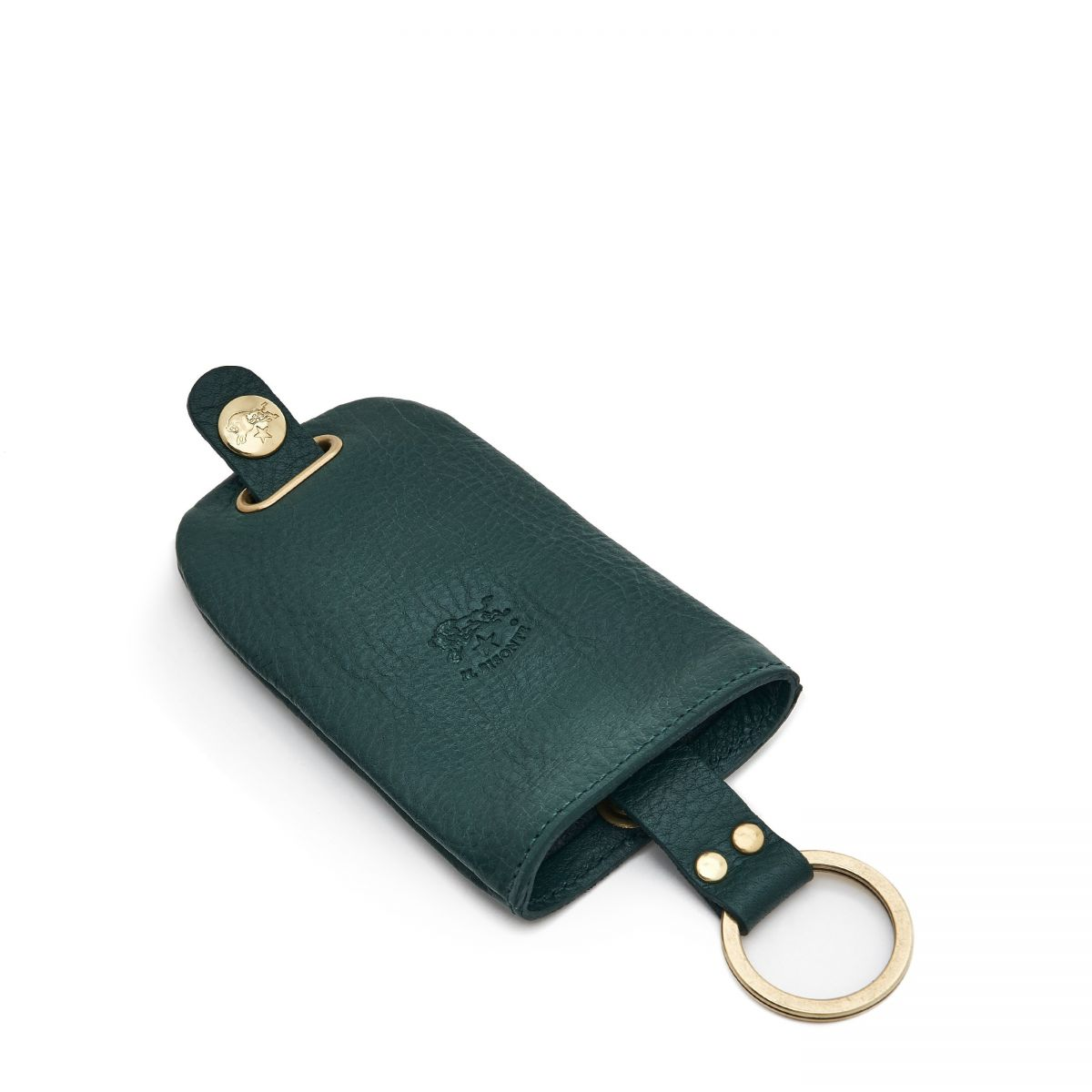 Keyring  in Cowhide Leather SKH007 color Rosemary | Details