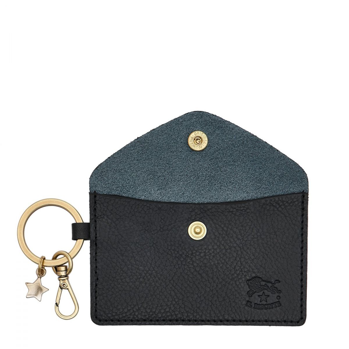 Scarlino - Women's Keyring in Cowhide Double Leather color Blue - SKH042 | Details