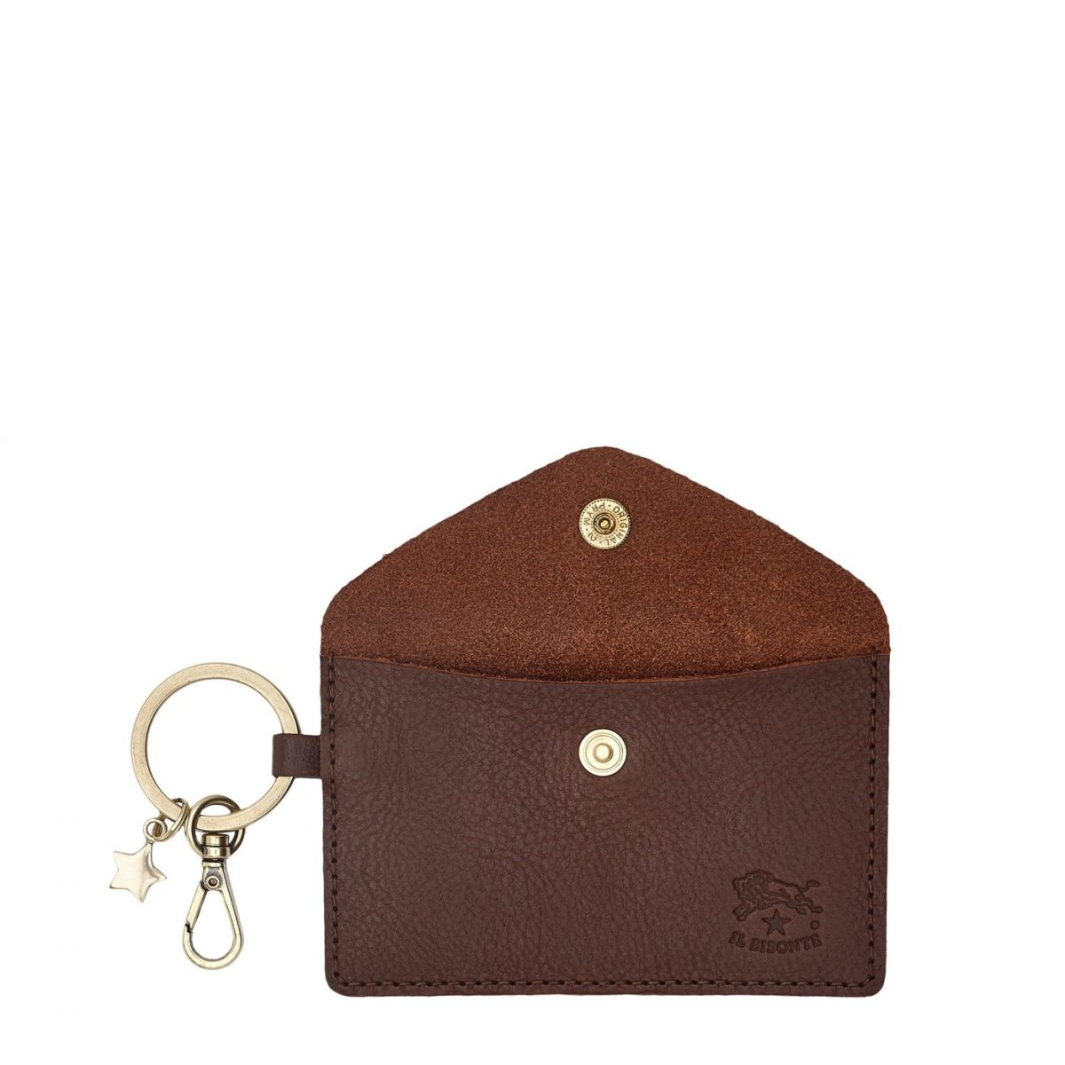 Scarlino - Women's Keyring  in Cowhide Double Leather SKH042 color Brown | Details