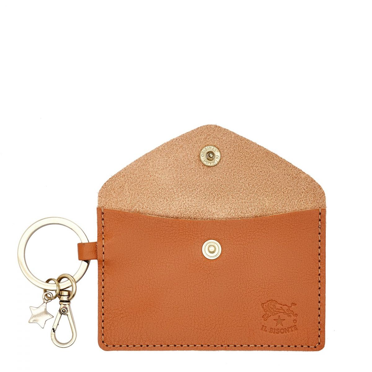 Scarlino - Women's Keyring  in Cowhide Double Leather SKH042 color Caramel | Details