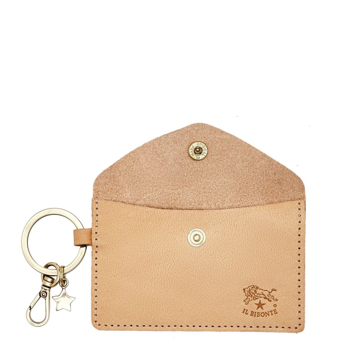 Scarlino - Women's Keyring  in Cowhide Double Leather SKH042 color Natural | Details
