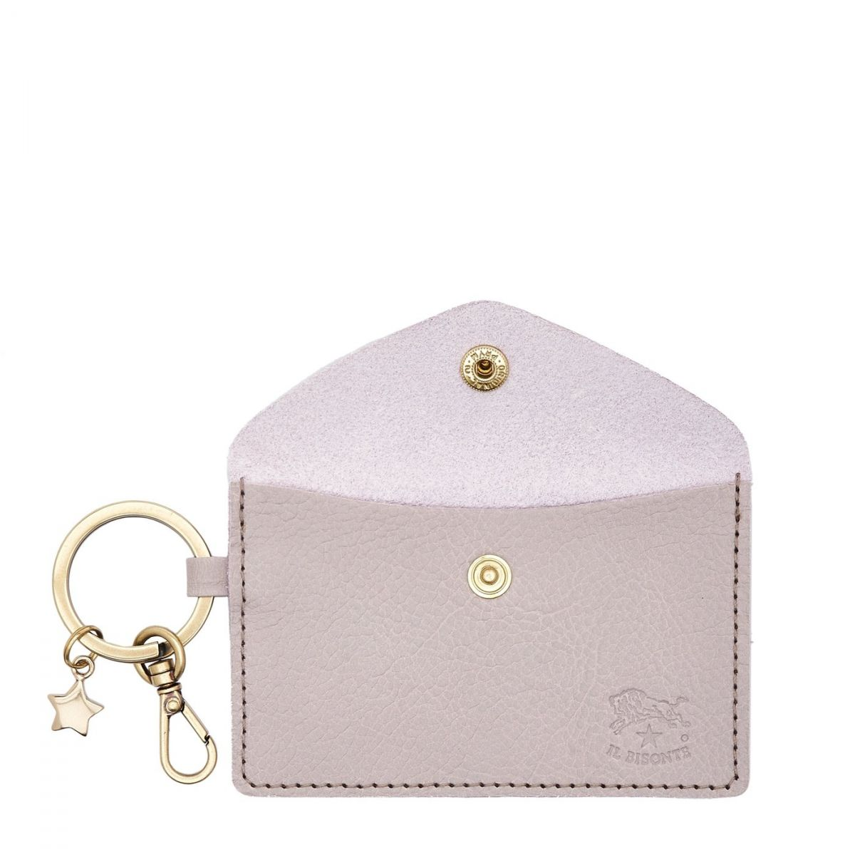 Scarlino - Women's Keyring in Cowhide Leather color Mauve - SKH042 | Details