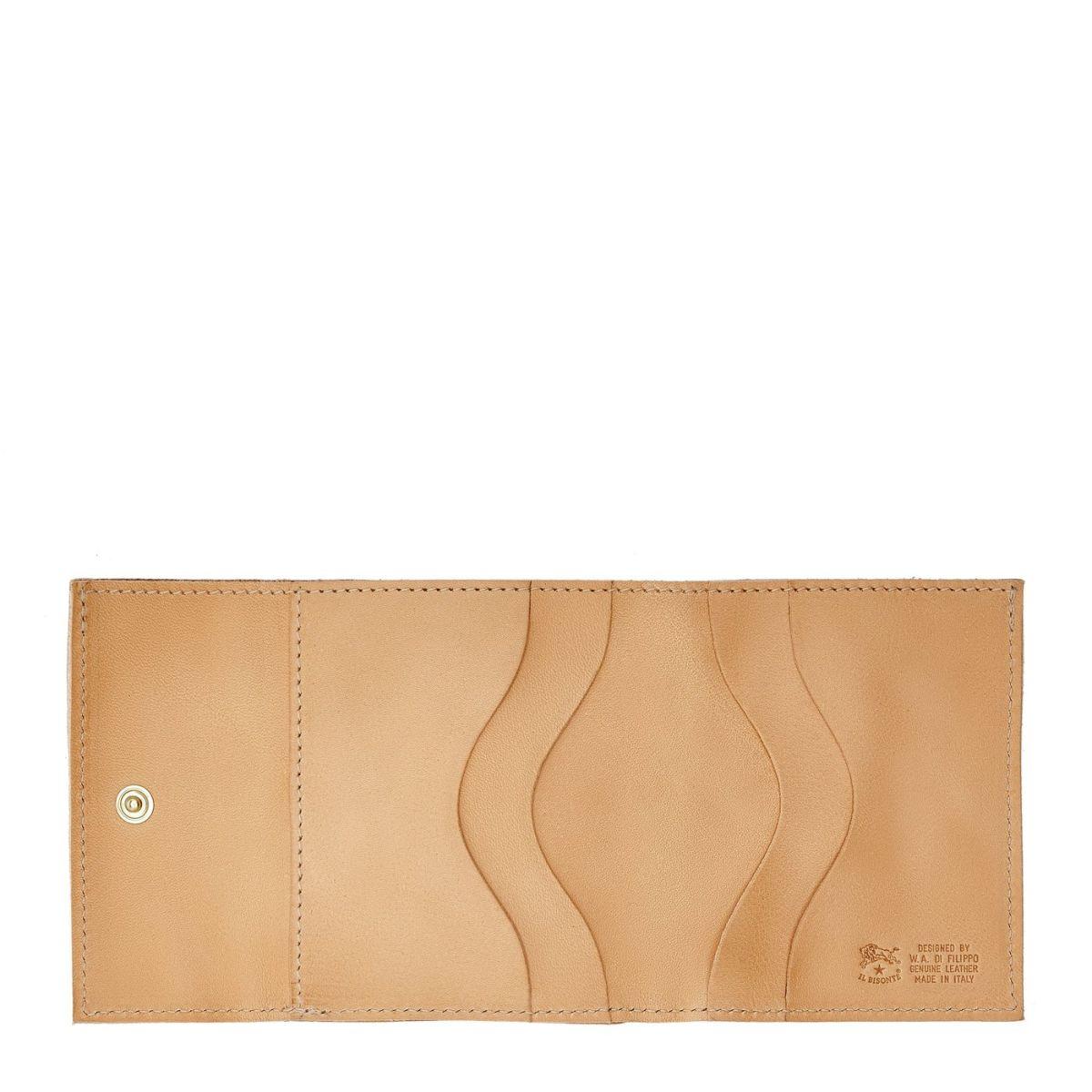 Portefeuille  en Cuir De Vachette Doublé SMW022 couleur Naturel | Details