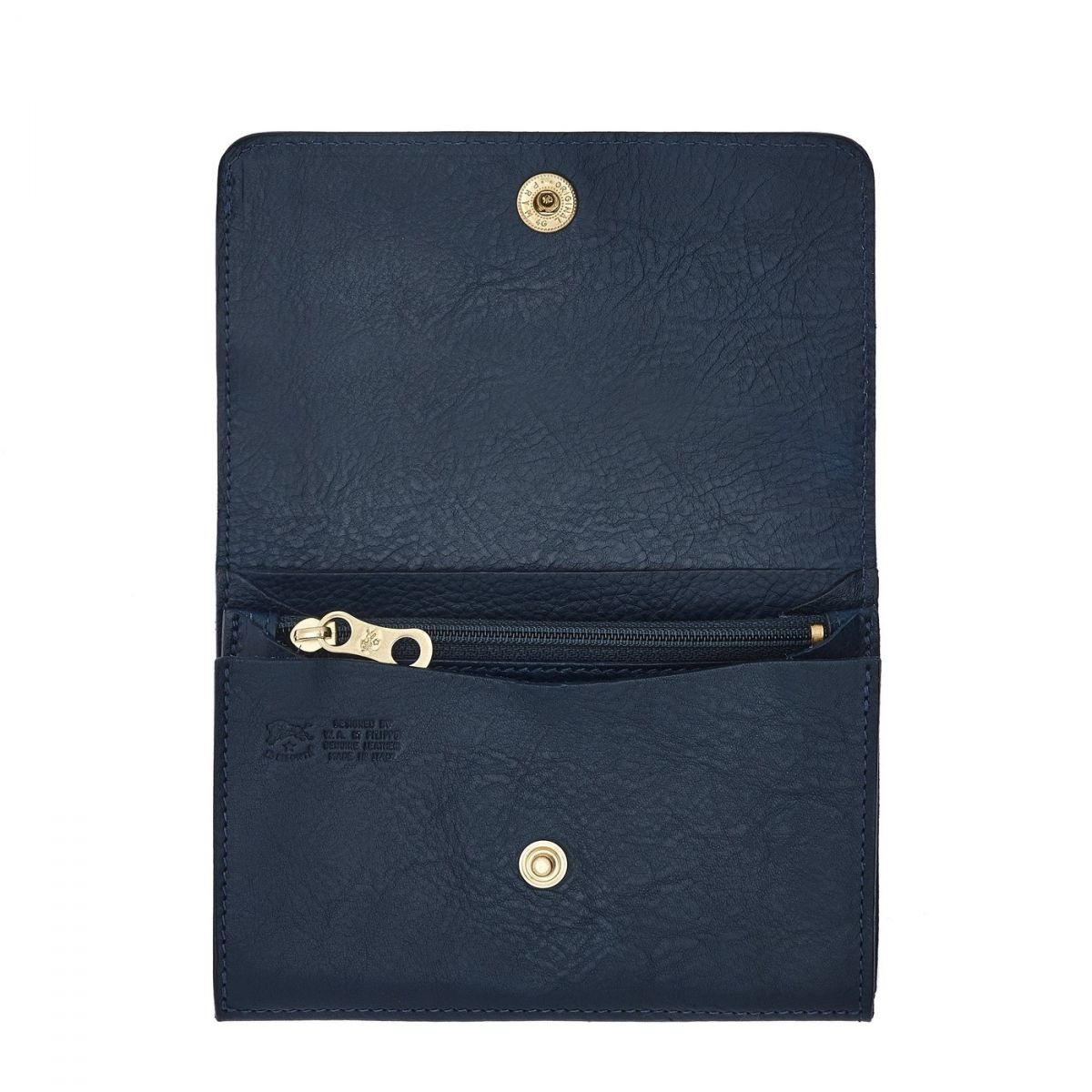 Wallet  in Cowhide Double Leather SMW028 color Blue | Details
