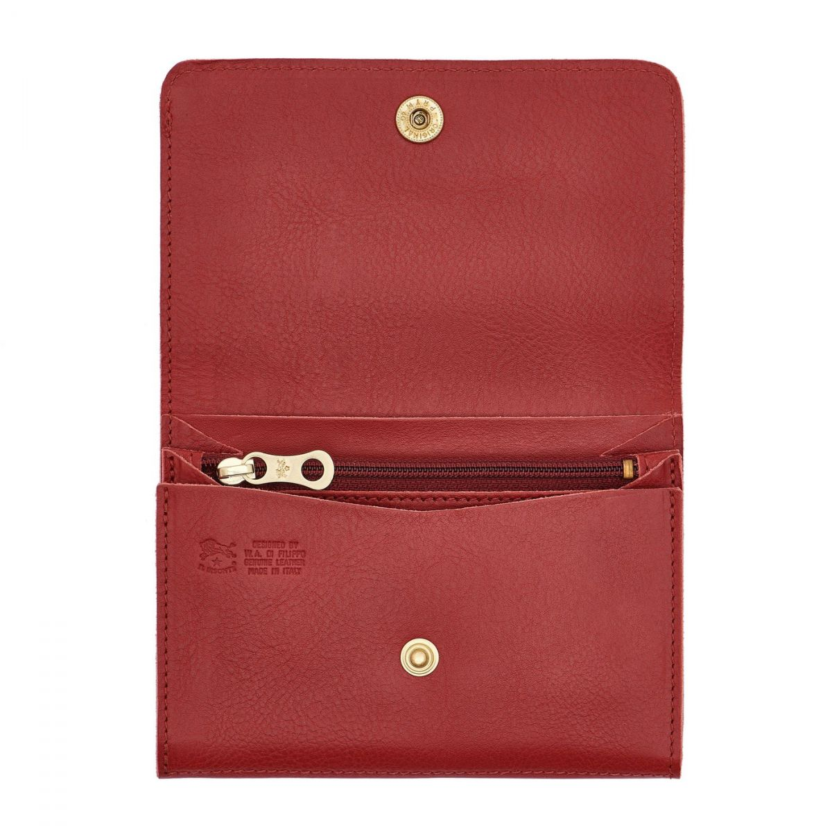 Alberese - Wallet in Cowhide Double Leather color Red - SMW028 | Details