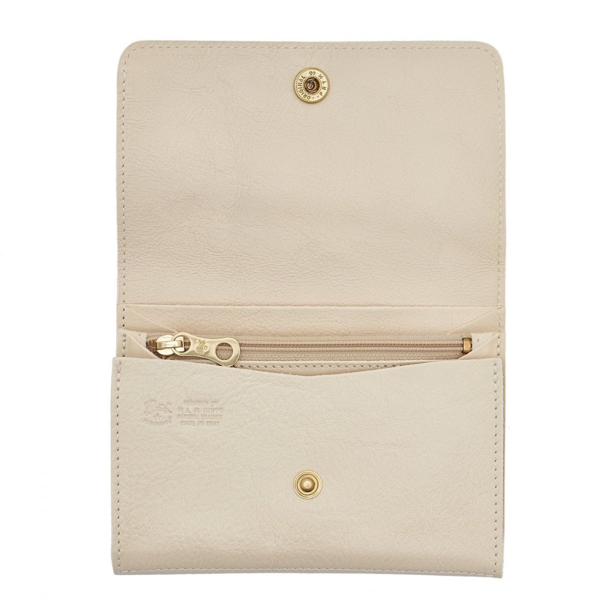 Alberese - Wallet in Cowhide Leather color Ivory - SMW028 | Details