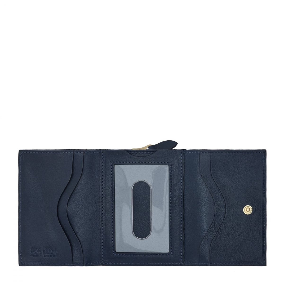 Wallet  in Cowhide Double Leather SMW036 color Blue | Details