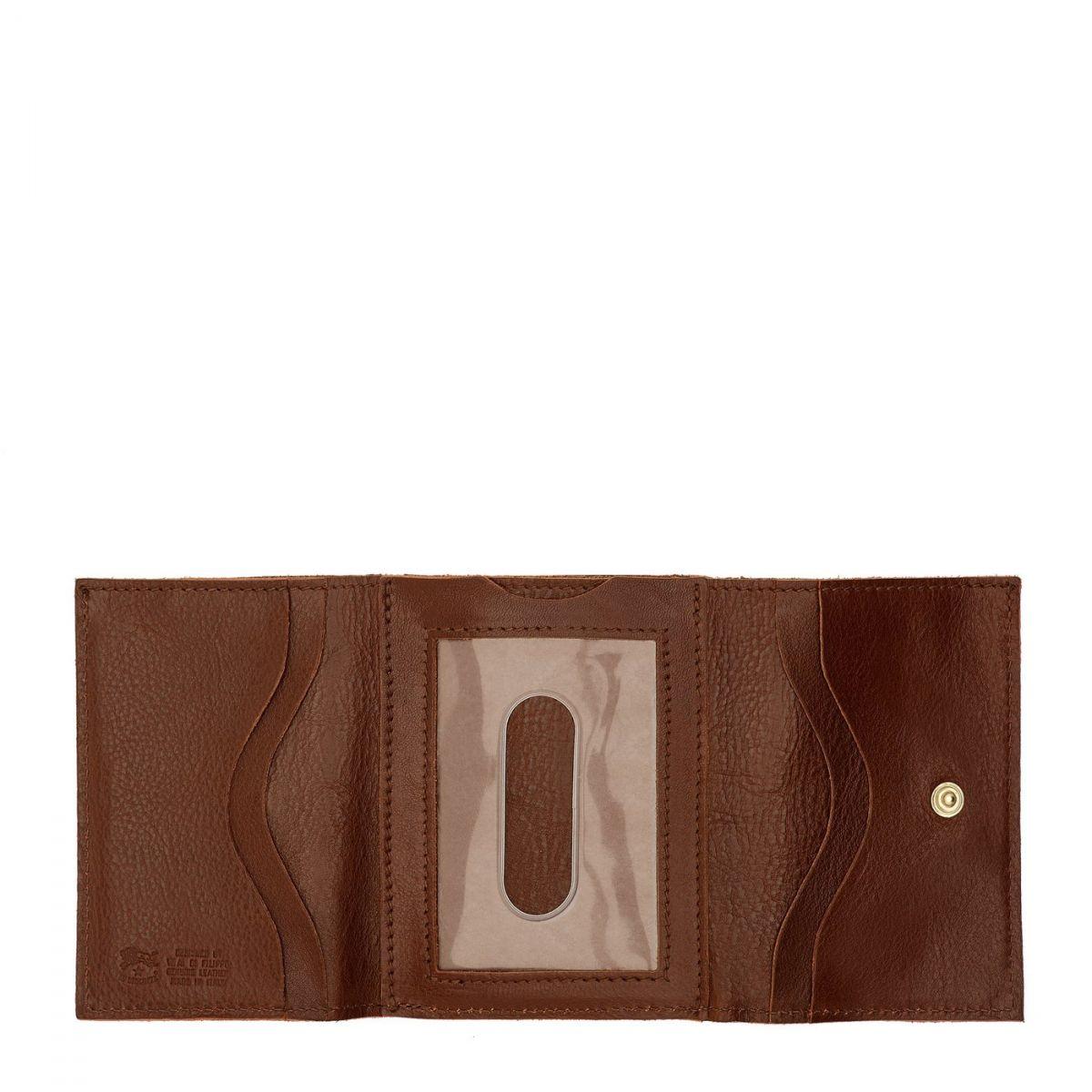Portafoglio  in Doppia Pelle Di Vacchetta SMW036 colore Marrone | Details