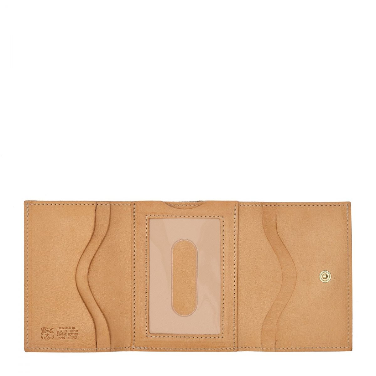 Wallet  in Cowhide Double Leather SMW036 color Natural | Details