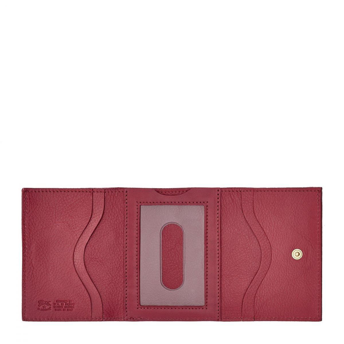 Portefeuille en Cuir De Vachette SMW036 couleur Sumac | Details