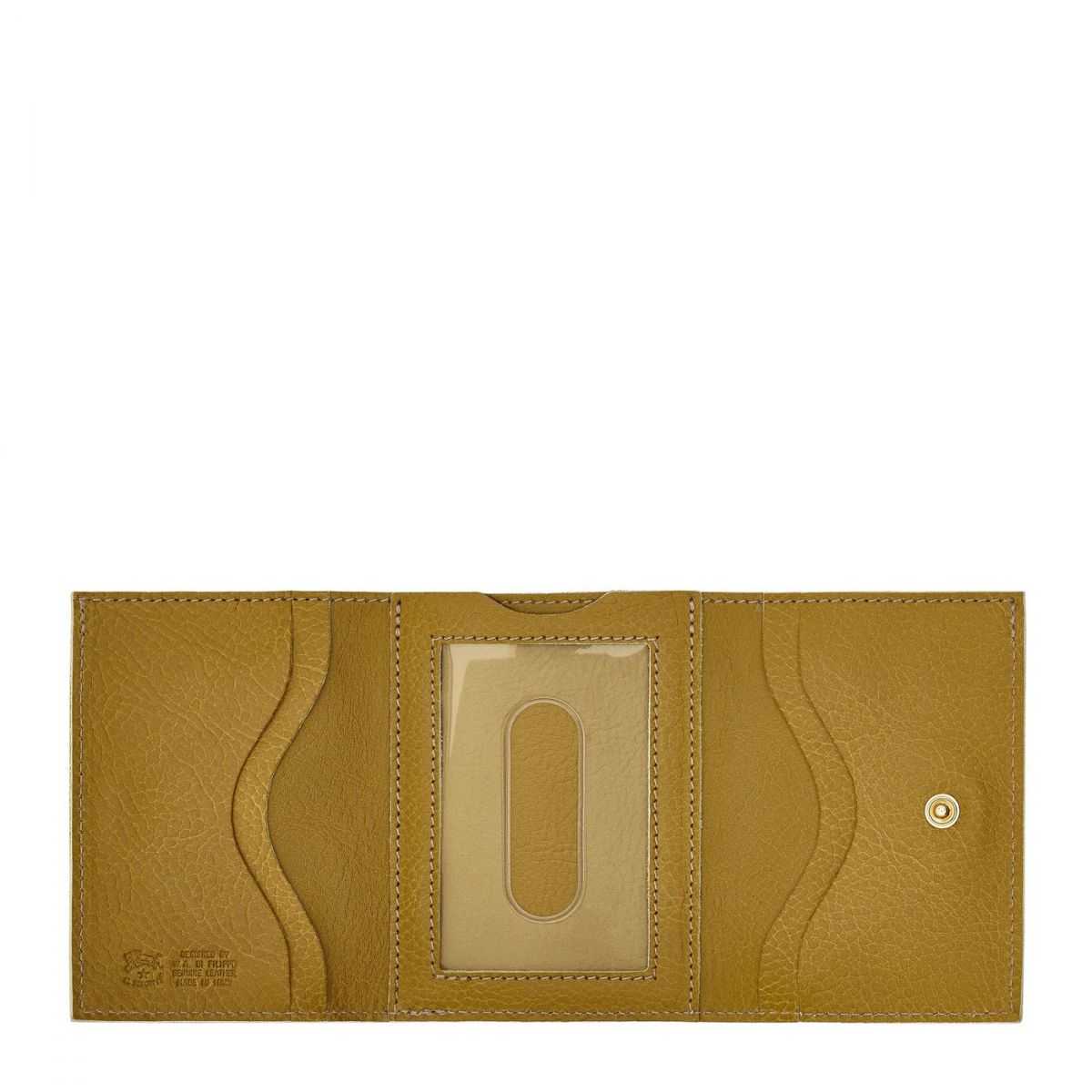 Wallet in Cowhide Leather SMW036 color Curry | Details