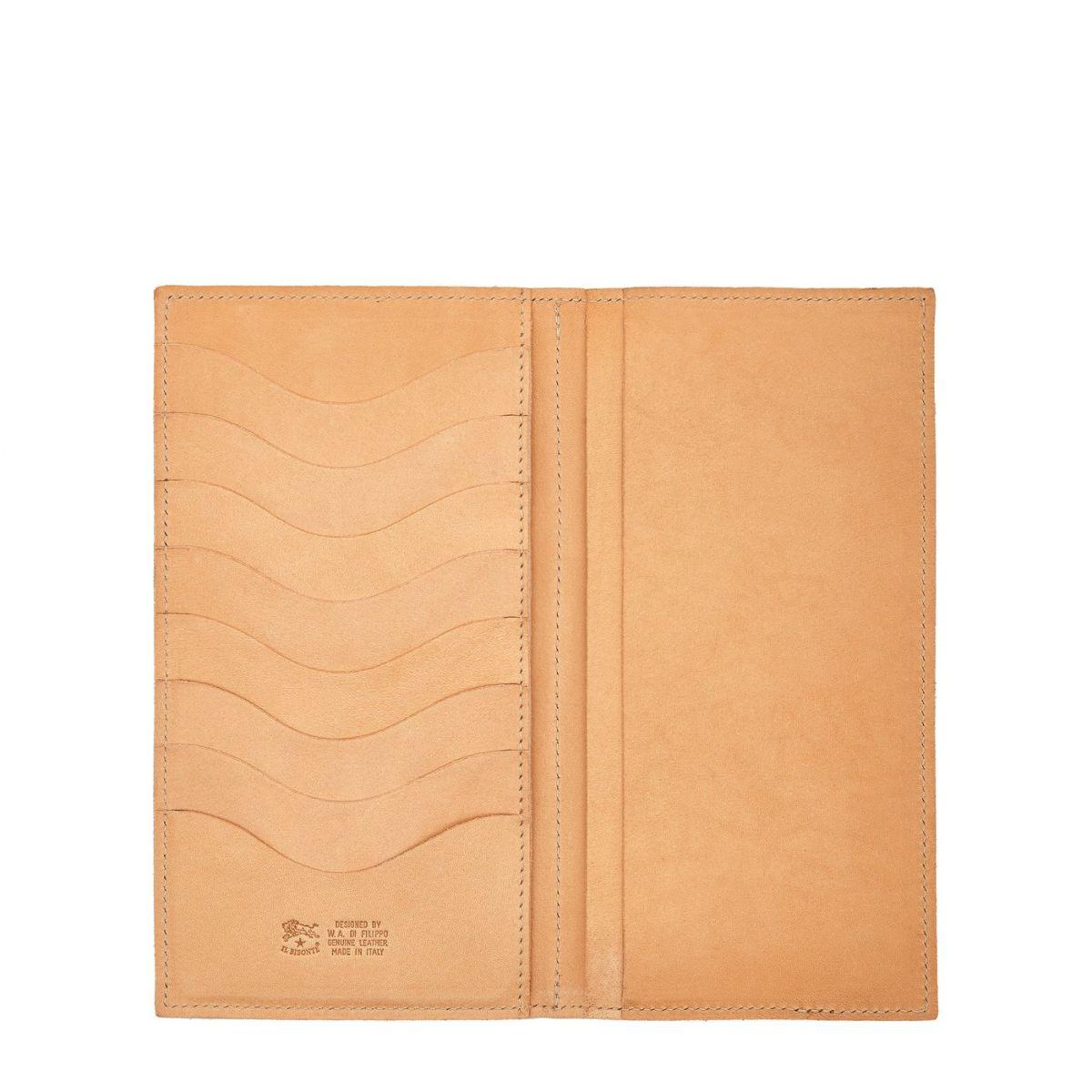 Portefeuille en Cuir De Vachette Doublé couleur Naturel - SMW043 | Details
