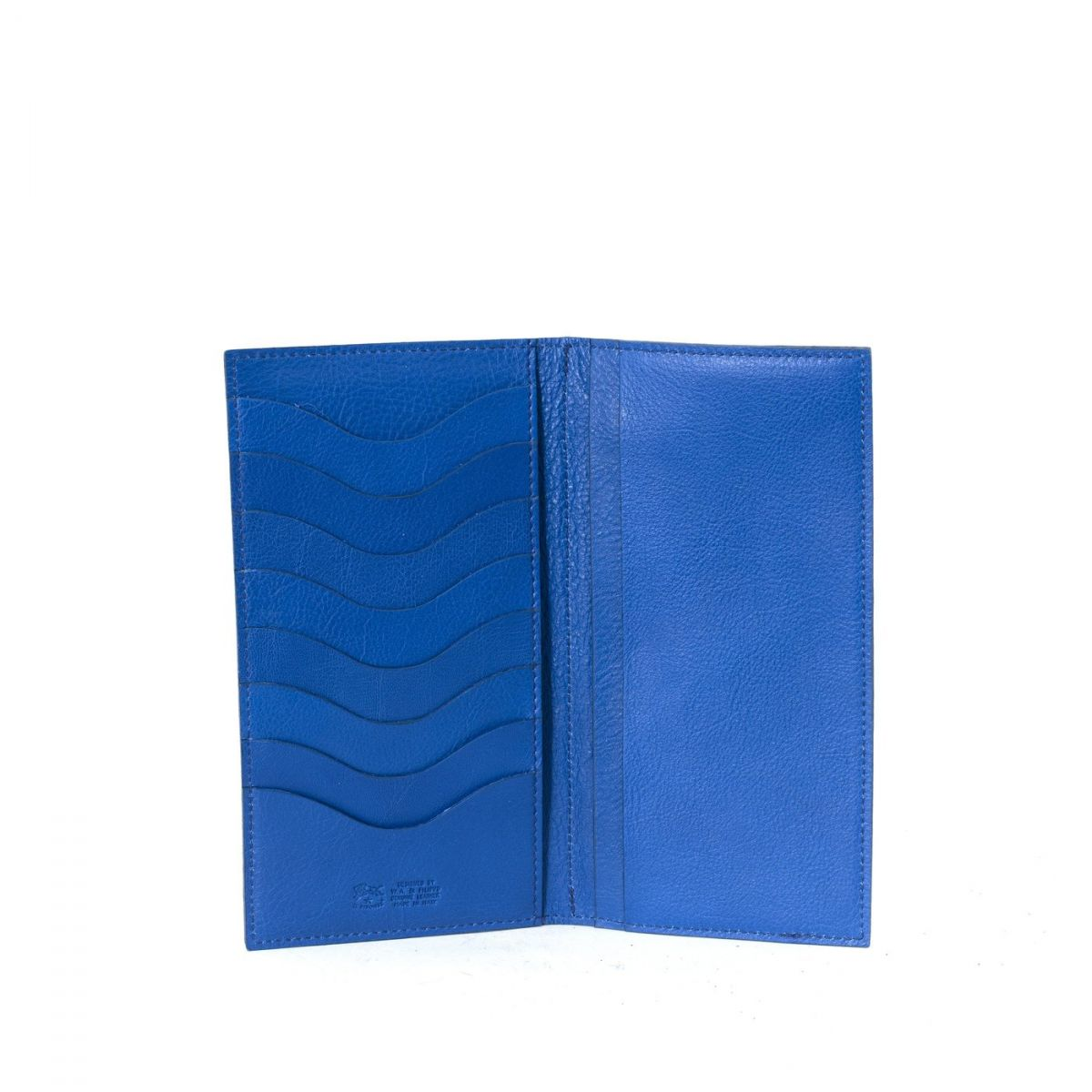 Wallet in Cowhide Leather SMW043 color Blueberry | Details