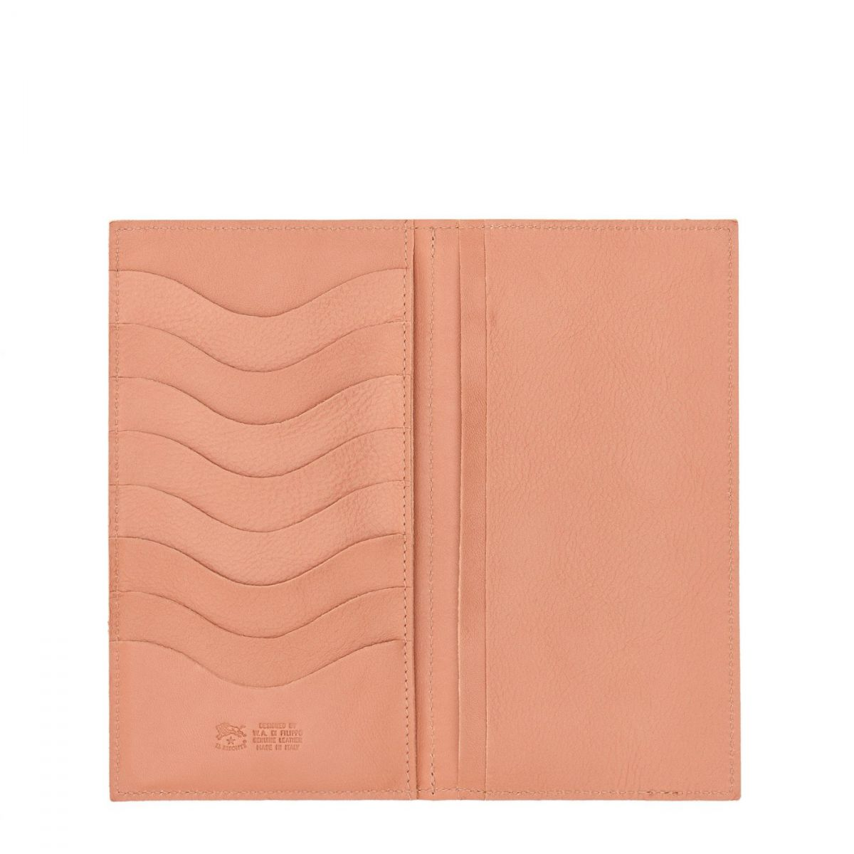 Wallet in Cowhide Leather SMW043 color Pink Pepper | Details