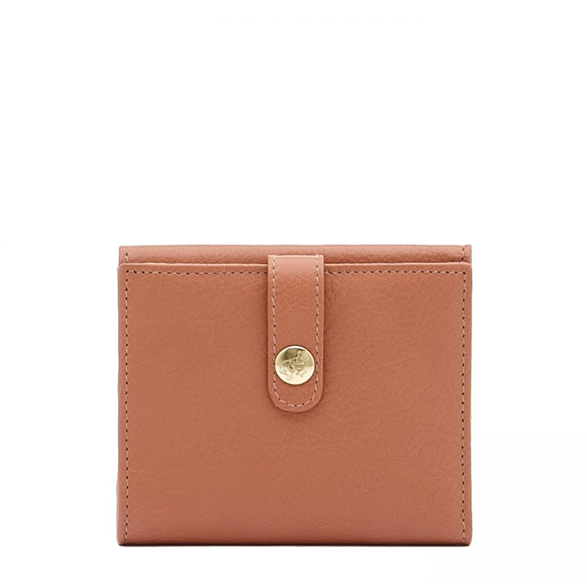 Women's Wallet  in Cowhide Leather SMW044 color Pink Pepper | Details