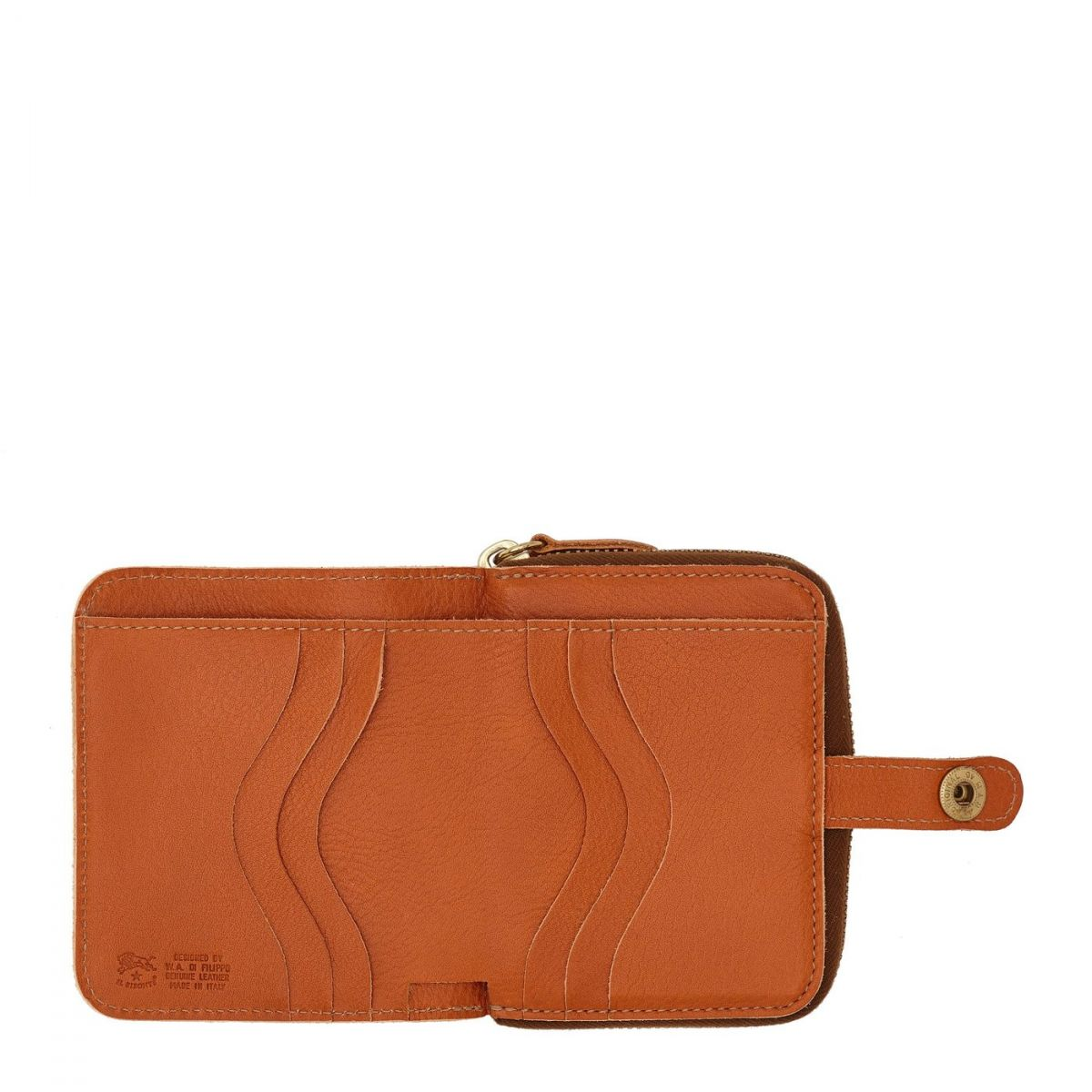 Wallet  in Cowhide Double Leather SMW049 color Caramel | Details