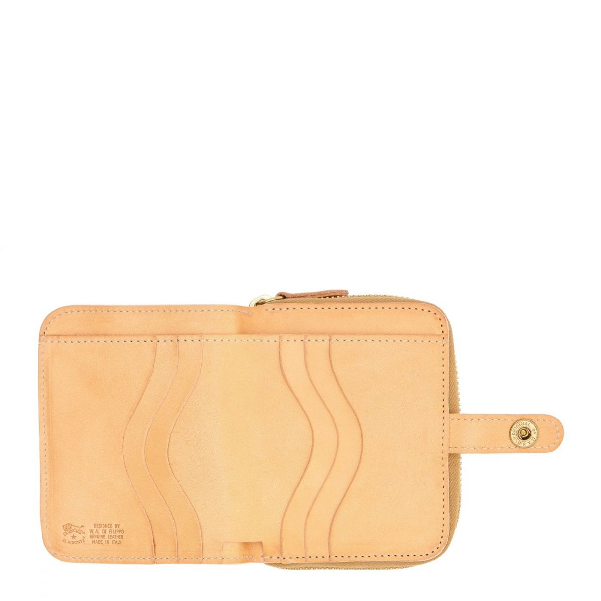 Wallet  in Cowhide Double Leather SMW049 color Natural | Details