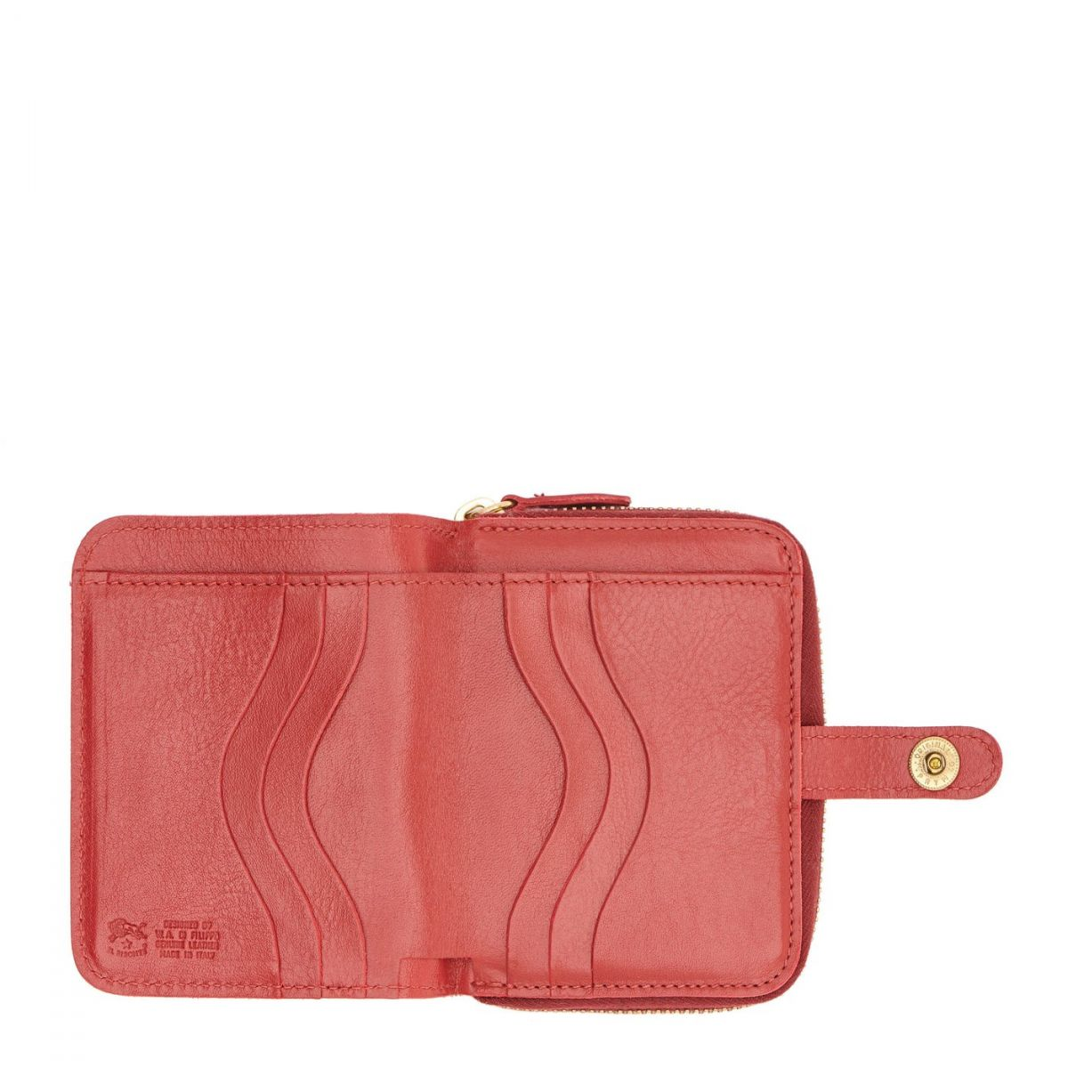 Wallet  in Cowhide Double Leather SMW049 color Red | Details