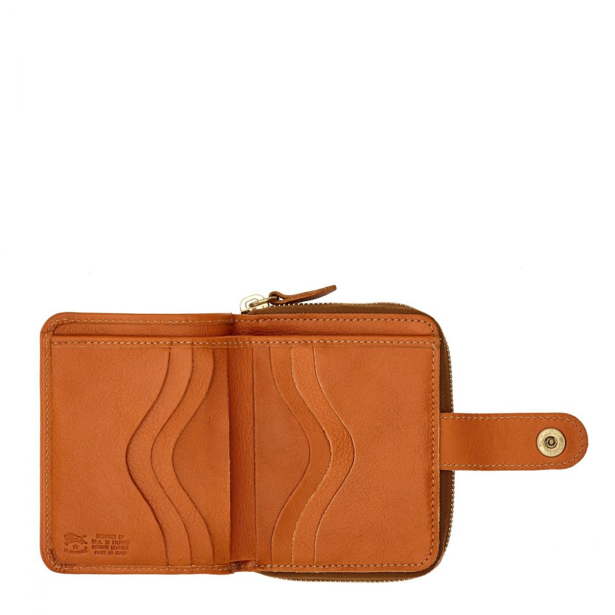 Women's Wallet  in Cowhide Double Leather SMW067 color Caramel | Details