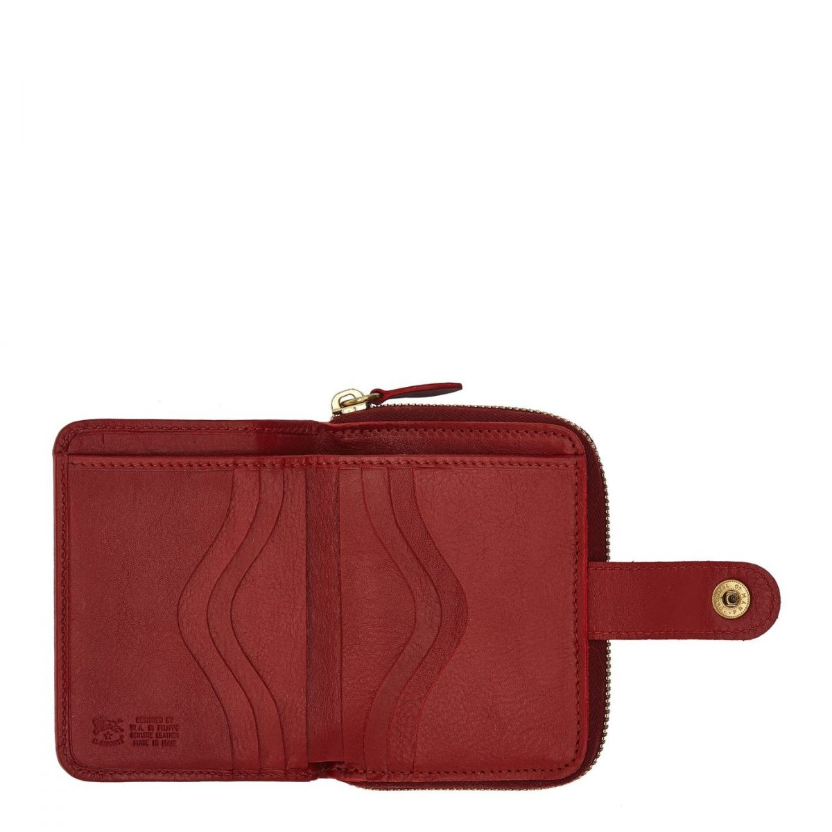 Women's Wallet  in Cowhide Double Leather SMW067 color Red | Details