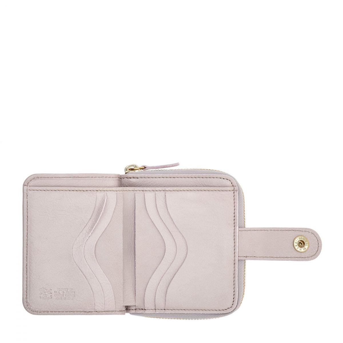 Women's Wallet in Cowhide Leather color Mauve - SMW067 | Details