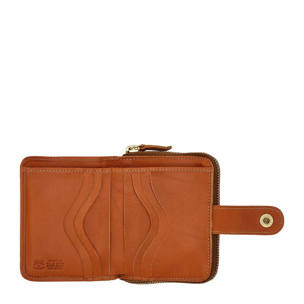 Women's Wallet  in Cowhide Leather SMW067 color Caramel | Details