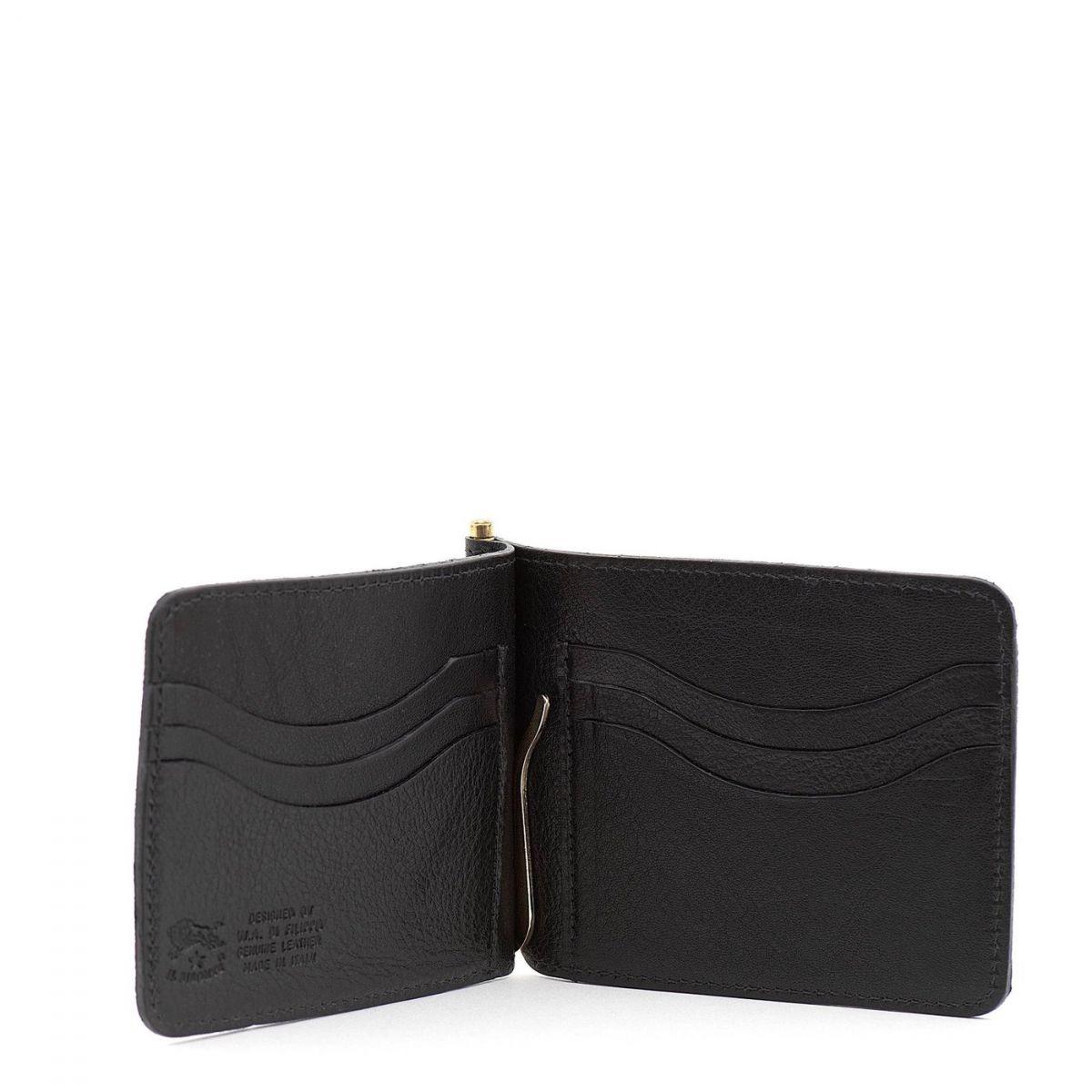Portefeuille pour Homme en Cuir De Vachette Doublé couleur Noir - SMW076 | Details