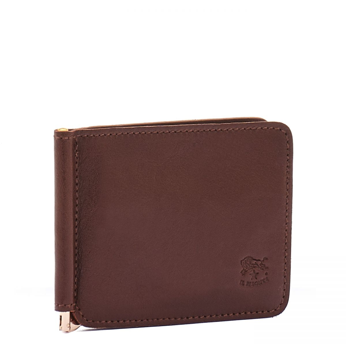 Men's Wallet  in Cowhide Double Leather SMW076 color Brown | Details