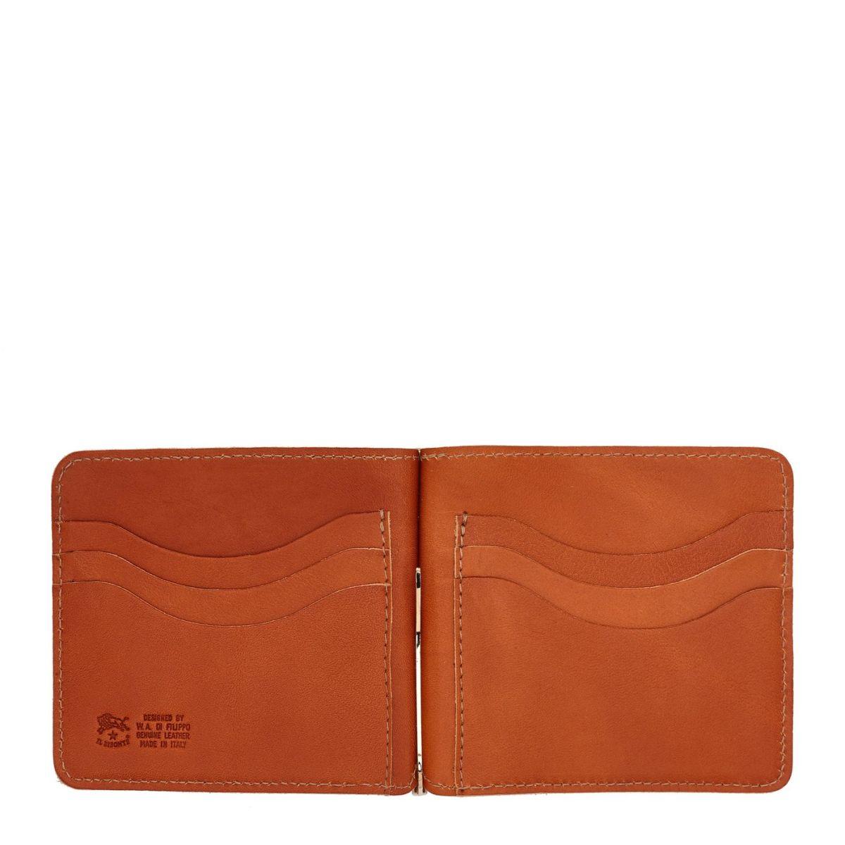Men's Wallet  in Cowhide Double Leather SMW076 color Caramel | Details