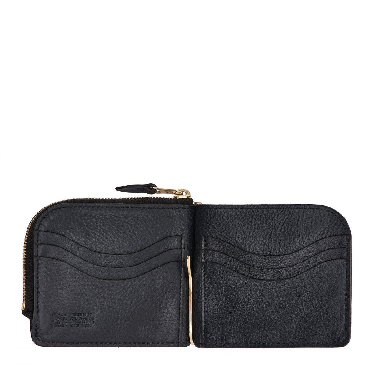 Men's Wallet in Cowhide Double Leather color Blue - SMW077 | Details