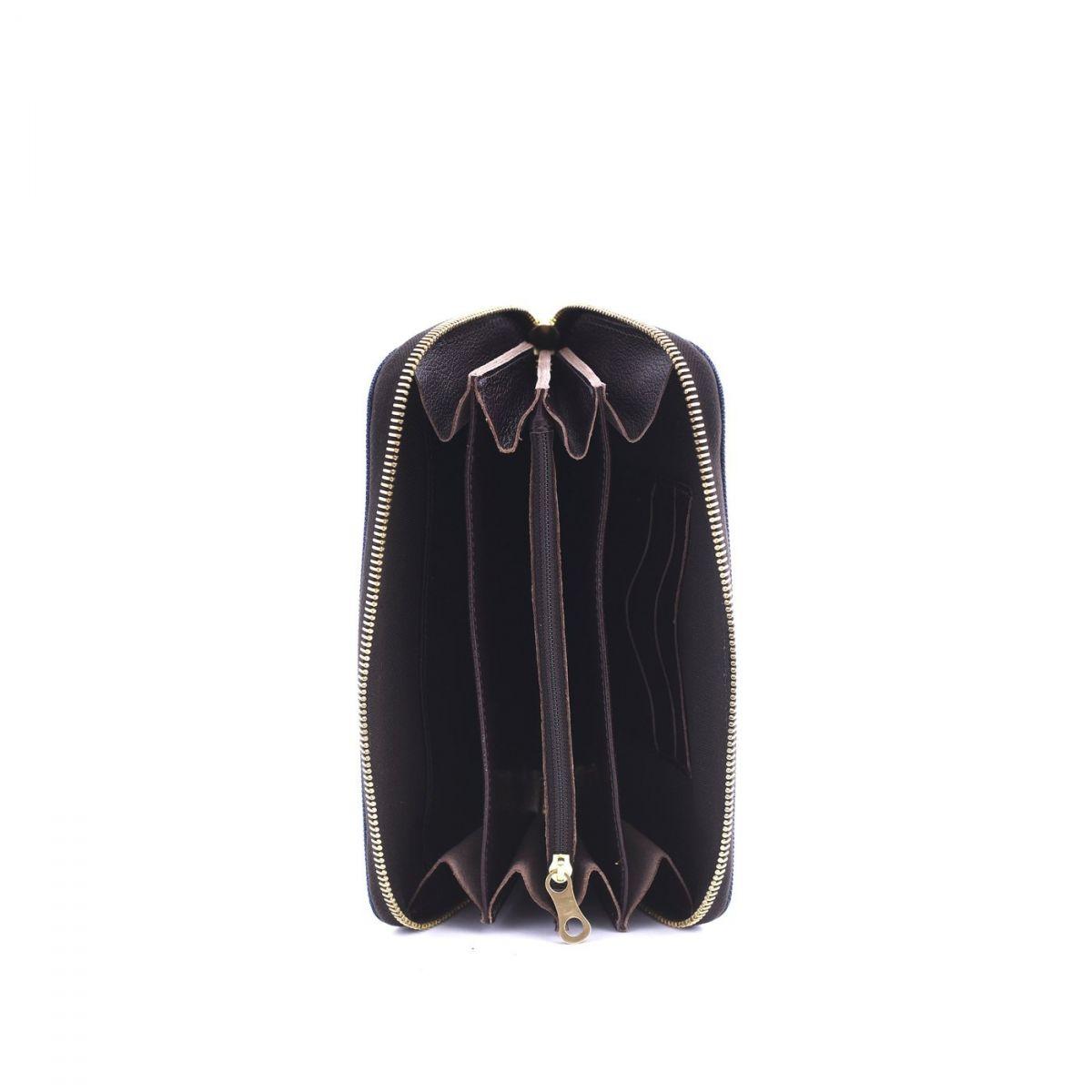 Wallet  in Nylon SMW086 color Blue Navy/Dark Brown | Details