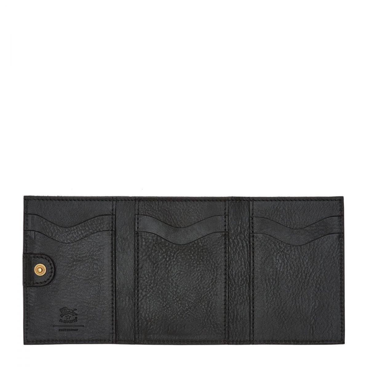 Women's Wallet  in Cowhide Leather SMW098 color Black | Details