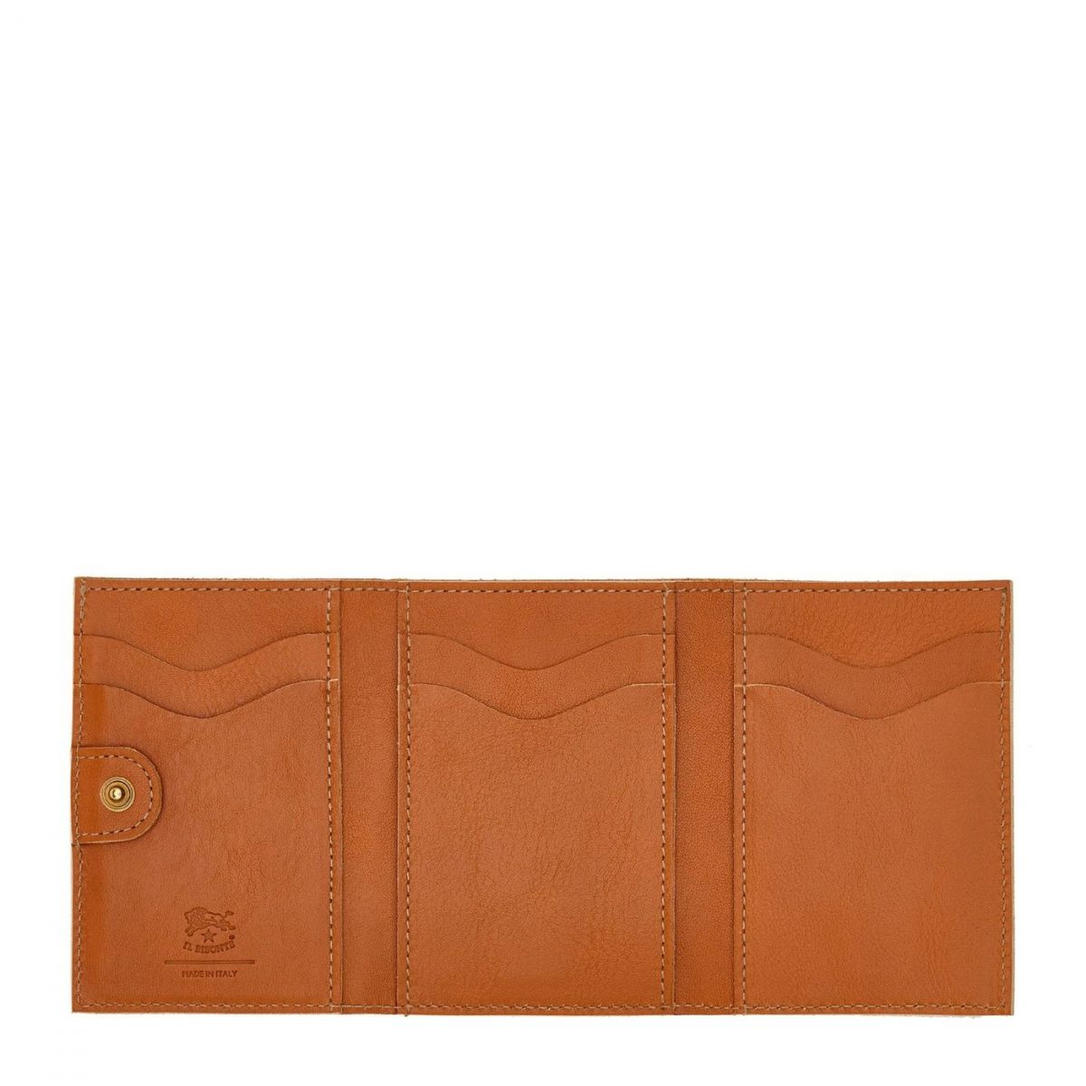 Women's Wallet  in Cowhide Leather SMW098 color Caramel | Details