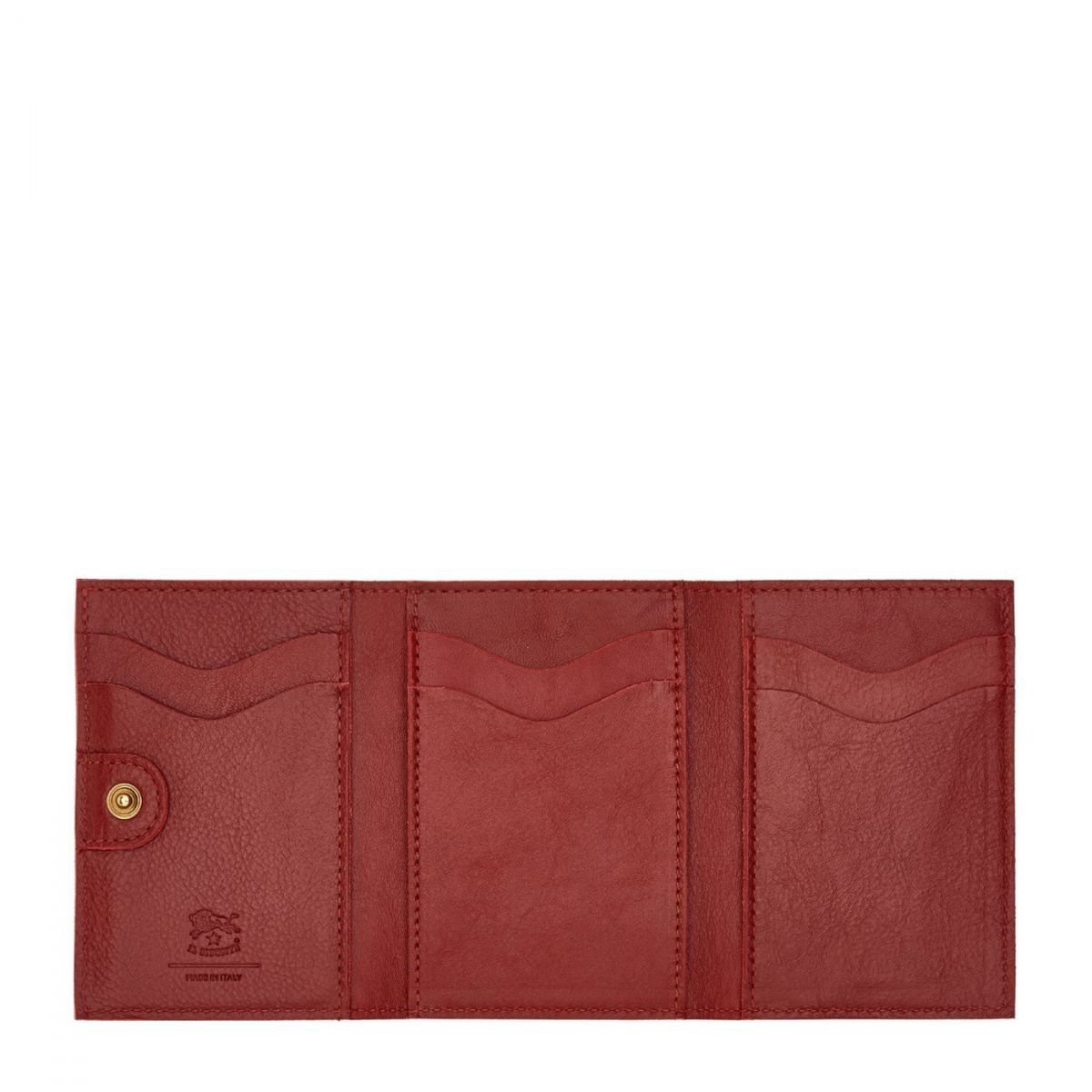 Women's Wallet  in Cowhide Leather SMW098 color Red | Details