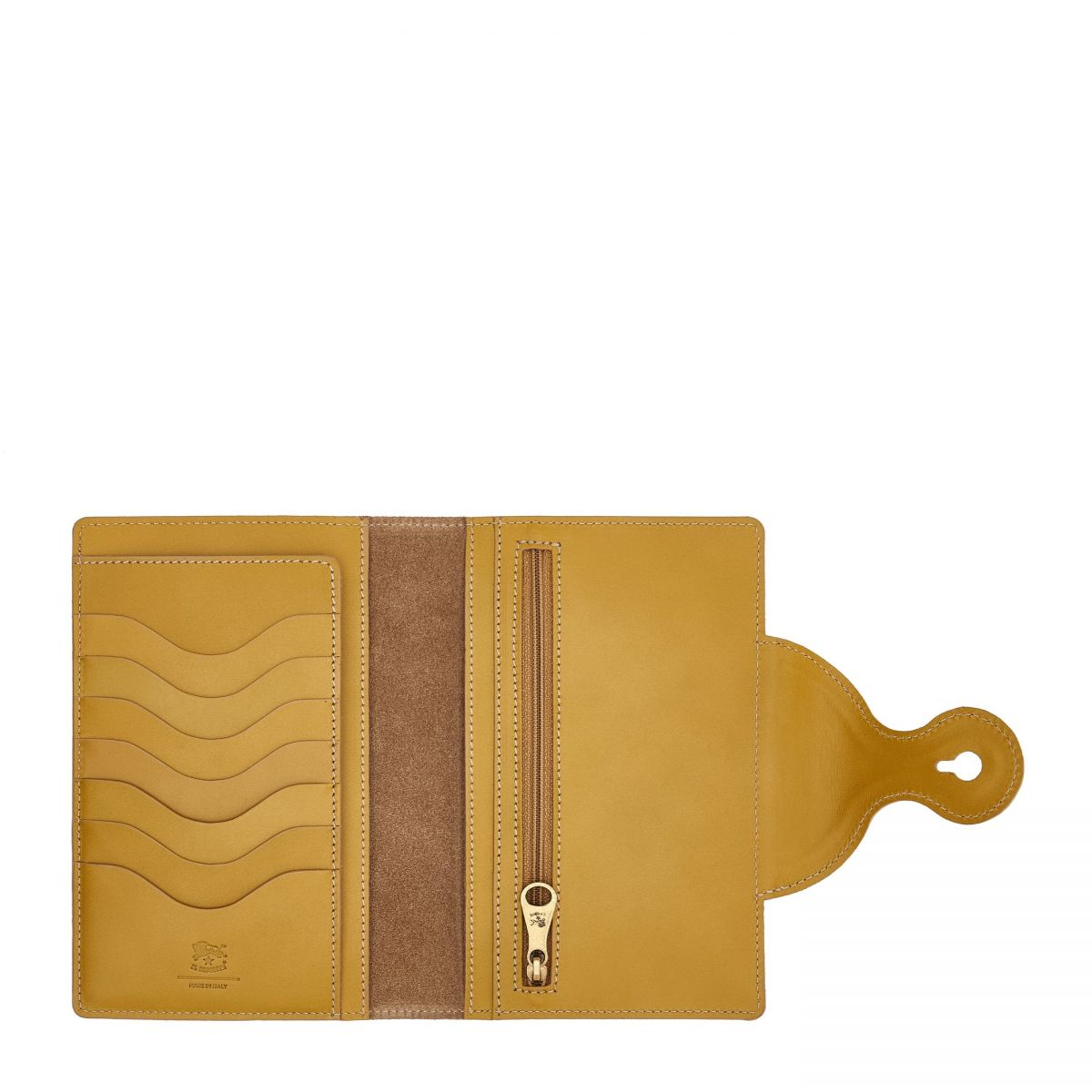 Women's Wallet Valentina in Cowhide Leather SMW105 color Curry   Details