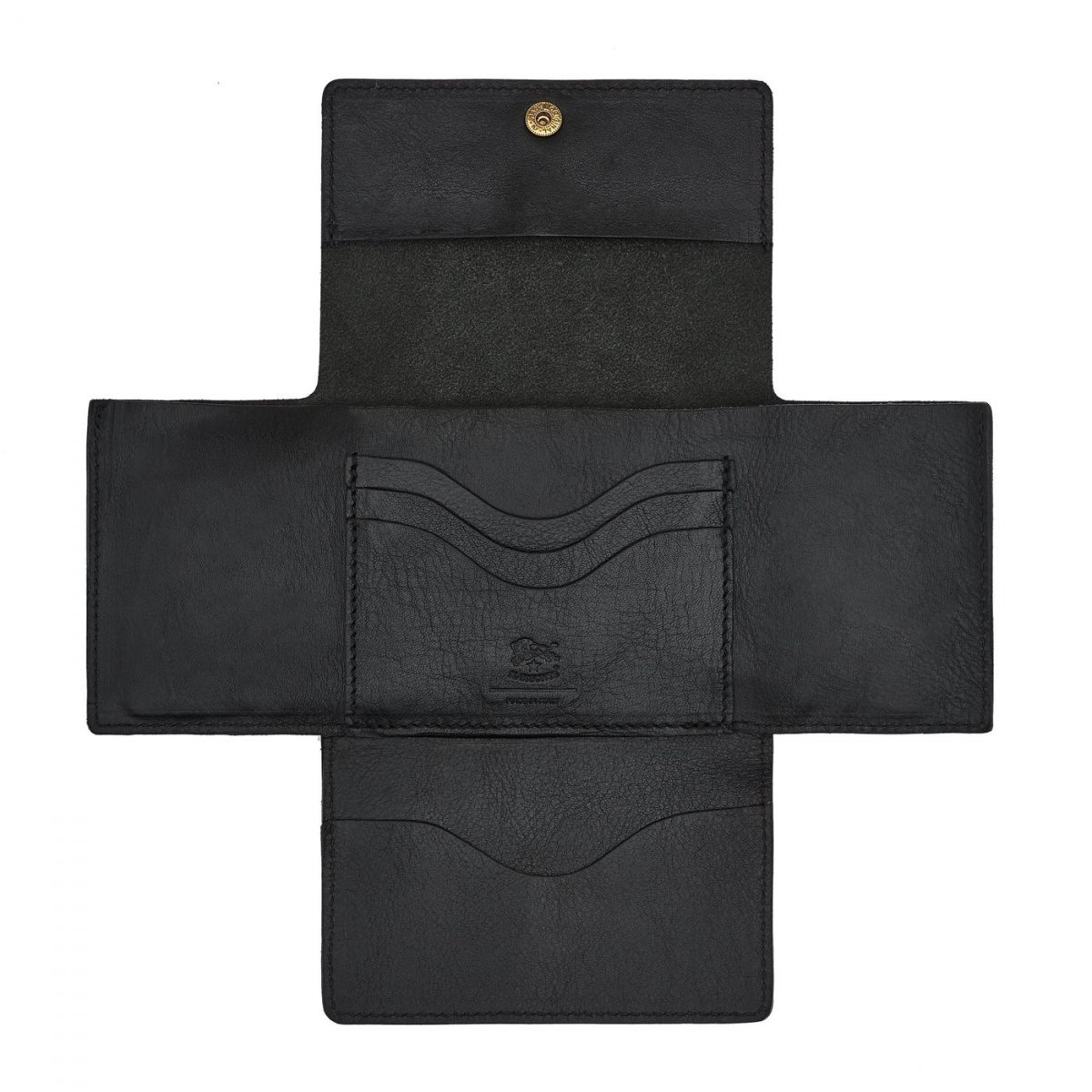 Women's Wallet  in Cowhide Leather SMW107 color Black | Details