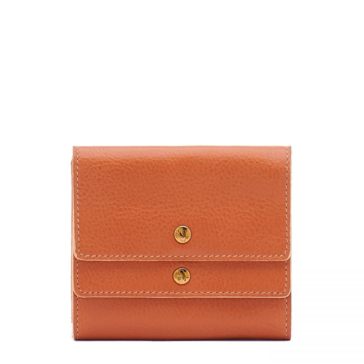 Women's Wallet  in Cowhide Leather SMW107 color Caramel | Details
