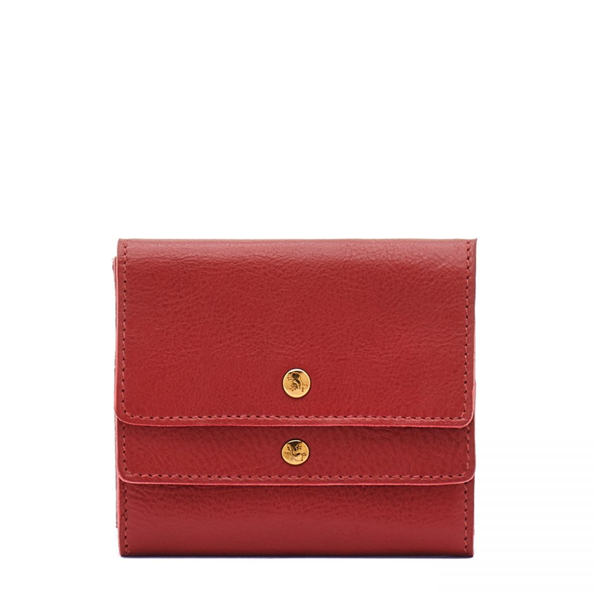 Women's Wallet  in Cowhide Leather SMW107 color Red | Details