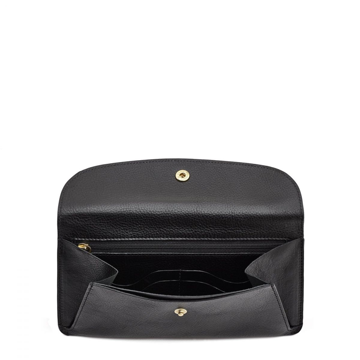 Women's Wallet  in Cowhide Leather SMW116 color Black | Details