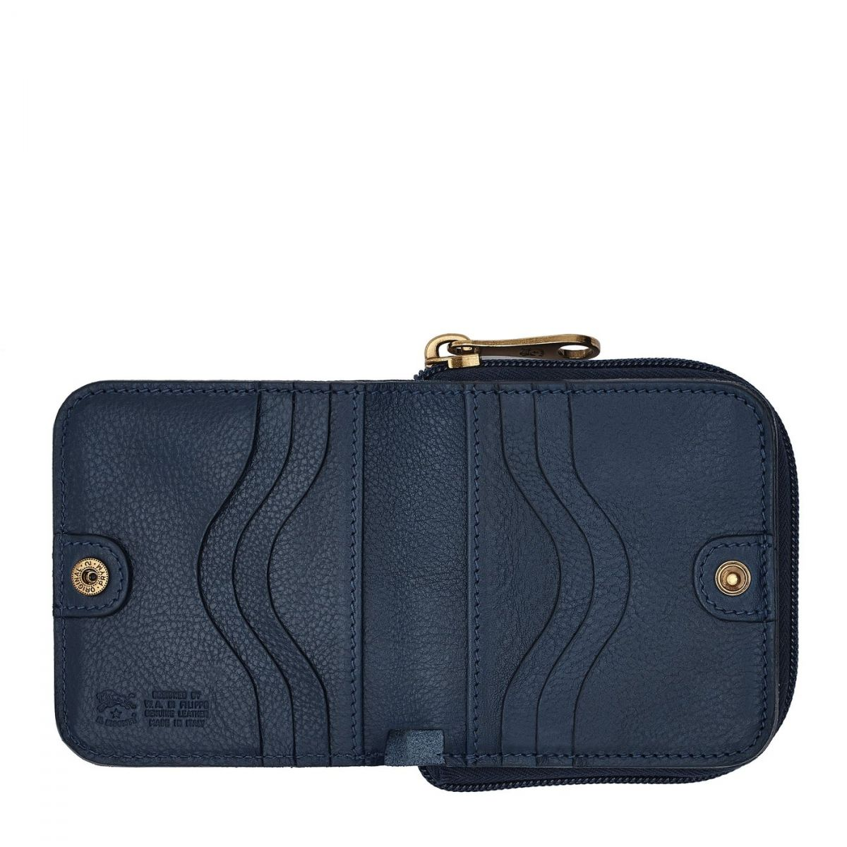 Women's Wallet  in Cowhide Leather SMW117 color Blue | Details