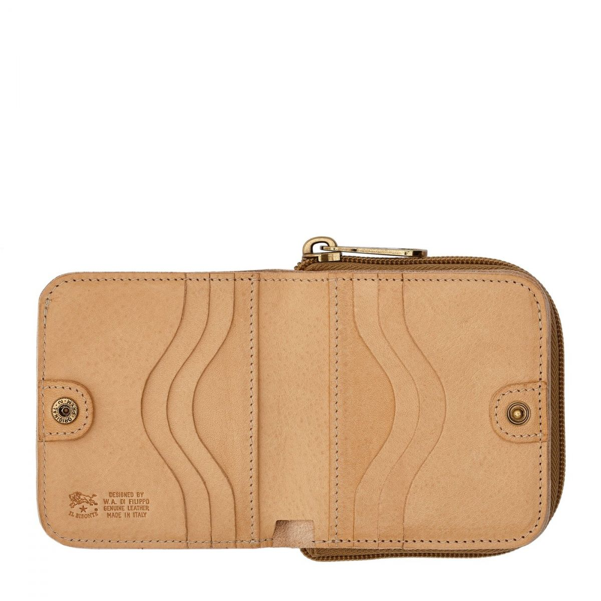 Women's Wallet  in Cowhide Leather SMW117 color Natural | Details