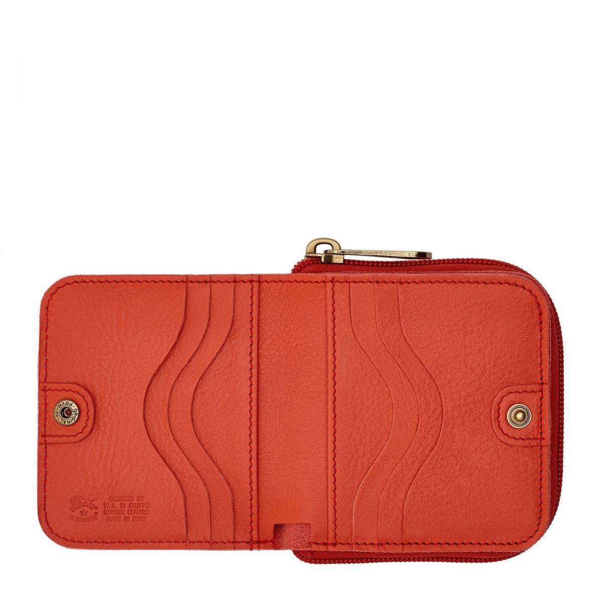 Women's Wallet  in Cowhide Leather SMW117 color Gazpacho | Details